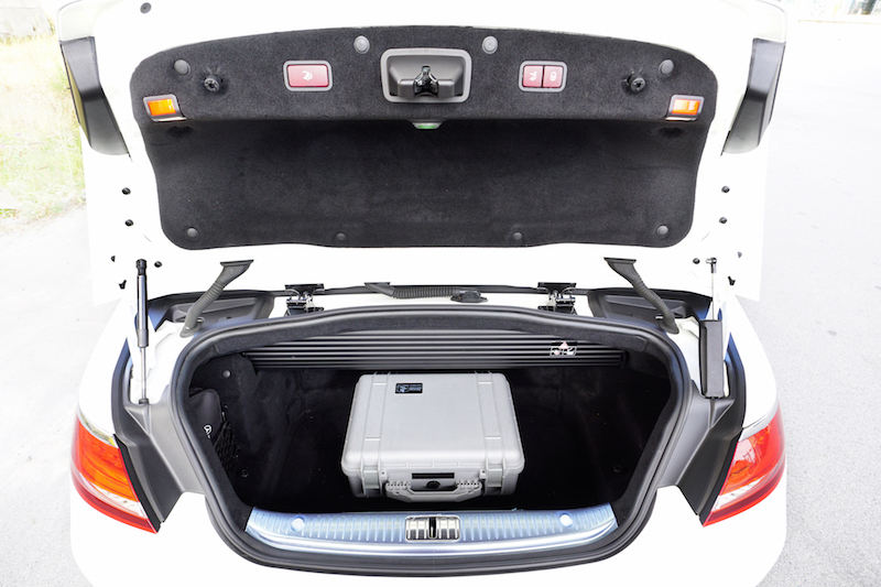 2017 Mercedes-Benz S 550 Cabriolet trunk space