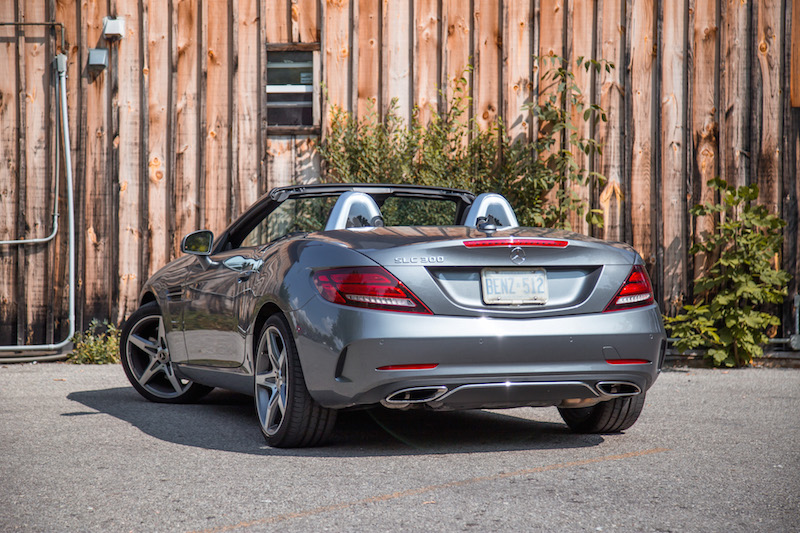2017 Mercedes-Benz SLC 300 rear quarter view
