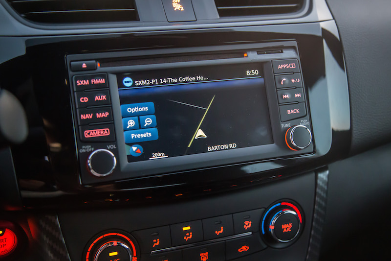 2017 Nissan Sentra Nismo navigation display