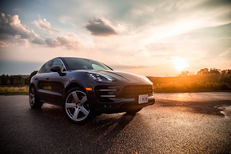 2017 Porsche Macan Turbo with Performance Package sunset