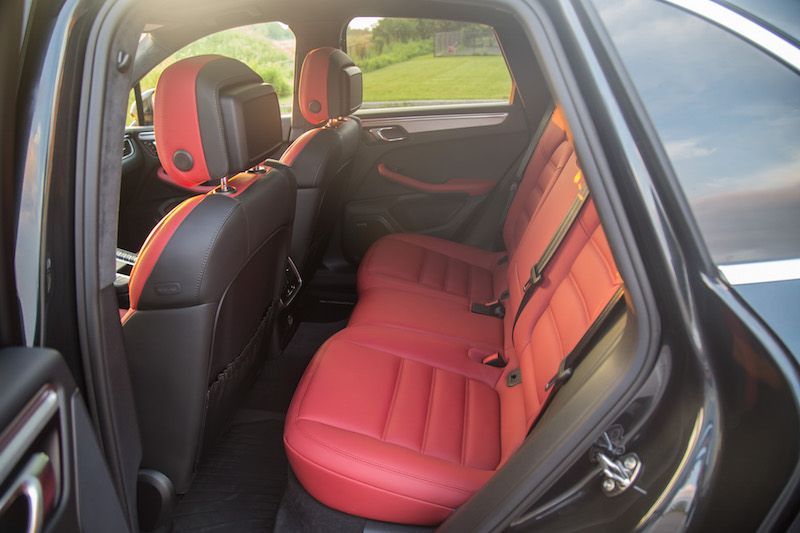 2017 Porsche Macan Turbo with Performance Package rear seats