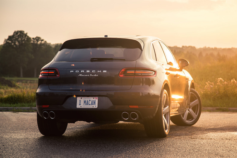 2017 Porsche Macan Turbo with Performance Package quad exhaust