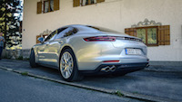 2017 Porsche Panamera quad exhaust rear quarter