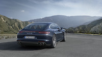 2017 Porsche Panamera rear quarter view turbo
