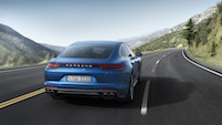 2017 Porsche Panamera blue rear quarter