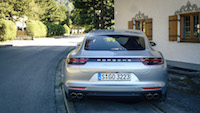 2017 Porsche Panamera Turbo rear taillights exhaust v8