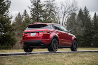 2017 Range Rover Evoque HSE Dynamic red paint black package