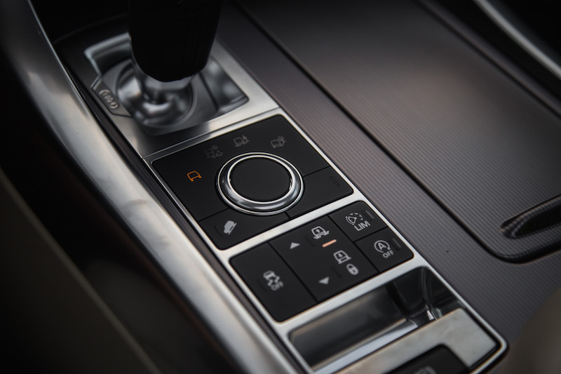 2017 Range Rover Sport offroad controls