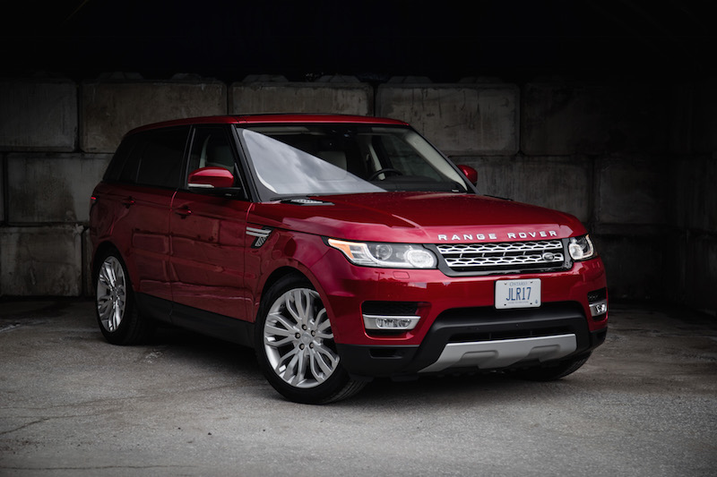 2017 Range Rover Sport front quarter view red