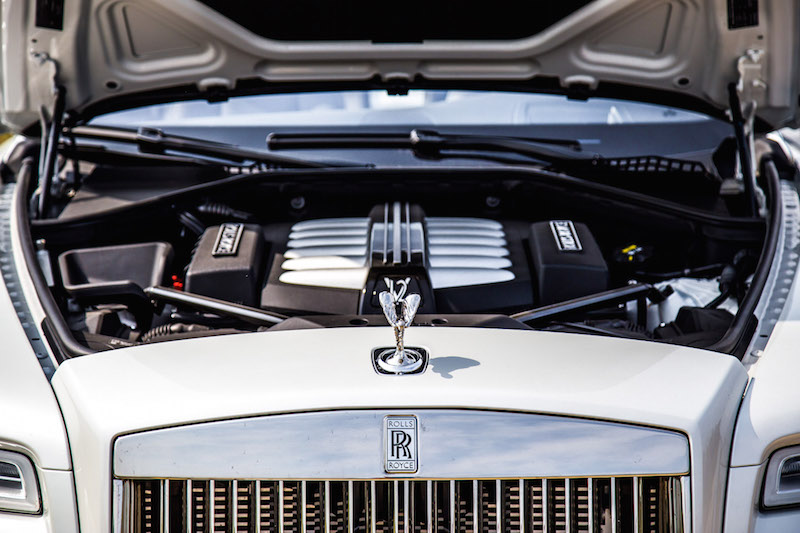2017 Rolls-Royce Dawn engine bay