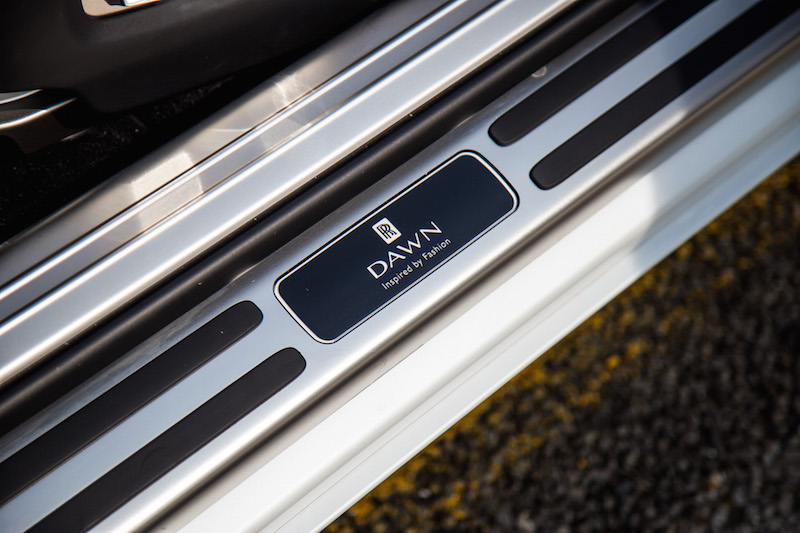 2017 Rolls-Royce Dawn Inspired By Fashion door sill plaque