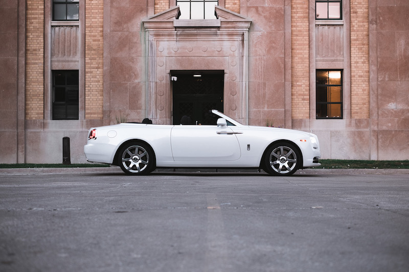 2017 Rolls-Royce Dawn Inspired By Fashion side view with top down