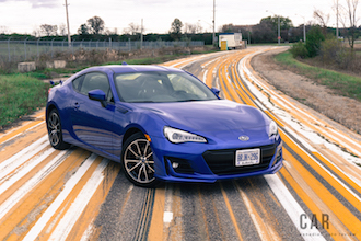 2017 Subaru BRZ Sport-Tech yellow stripe road