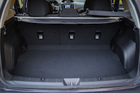 2017 Subaru Impreza hatch trunk space
