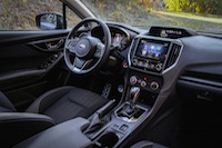 2017 Subaru Impreza dashboard interior black