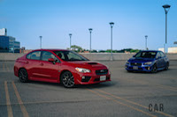 2017 Subaru WRX red blue base models