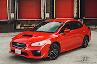 2017 Subaru WRX red front view