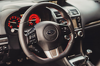 2017 Subaru WRX interior steering wheel