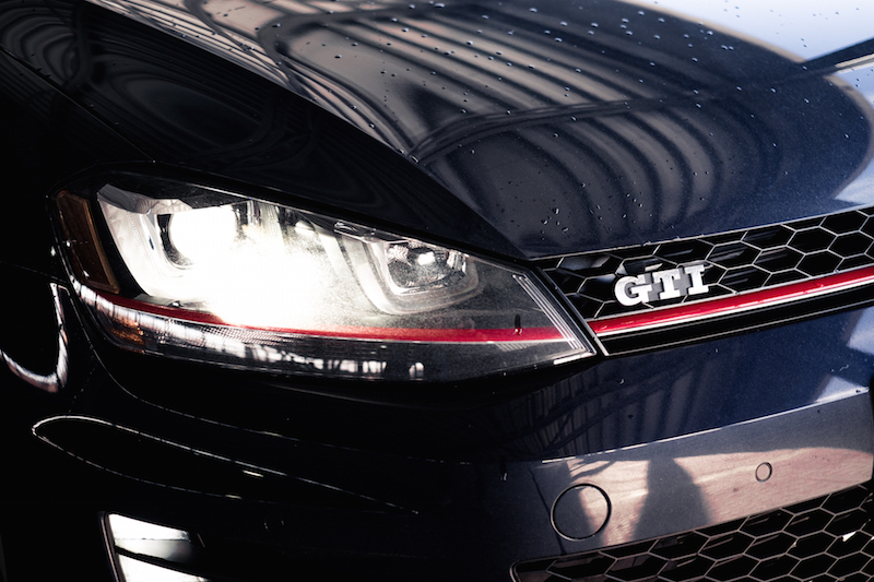 2017 VW Golf GTI headlights front grill red