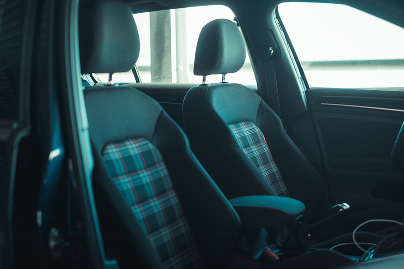 2017 VW Golf GTI plaid seats front