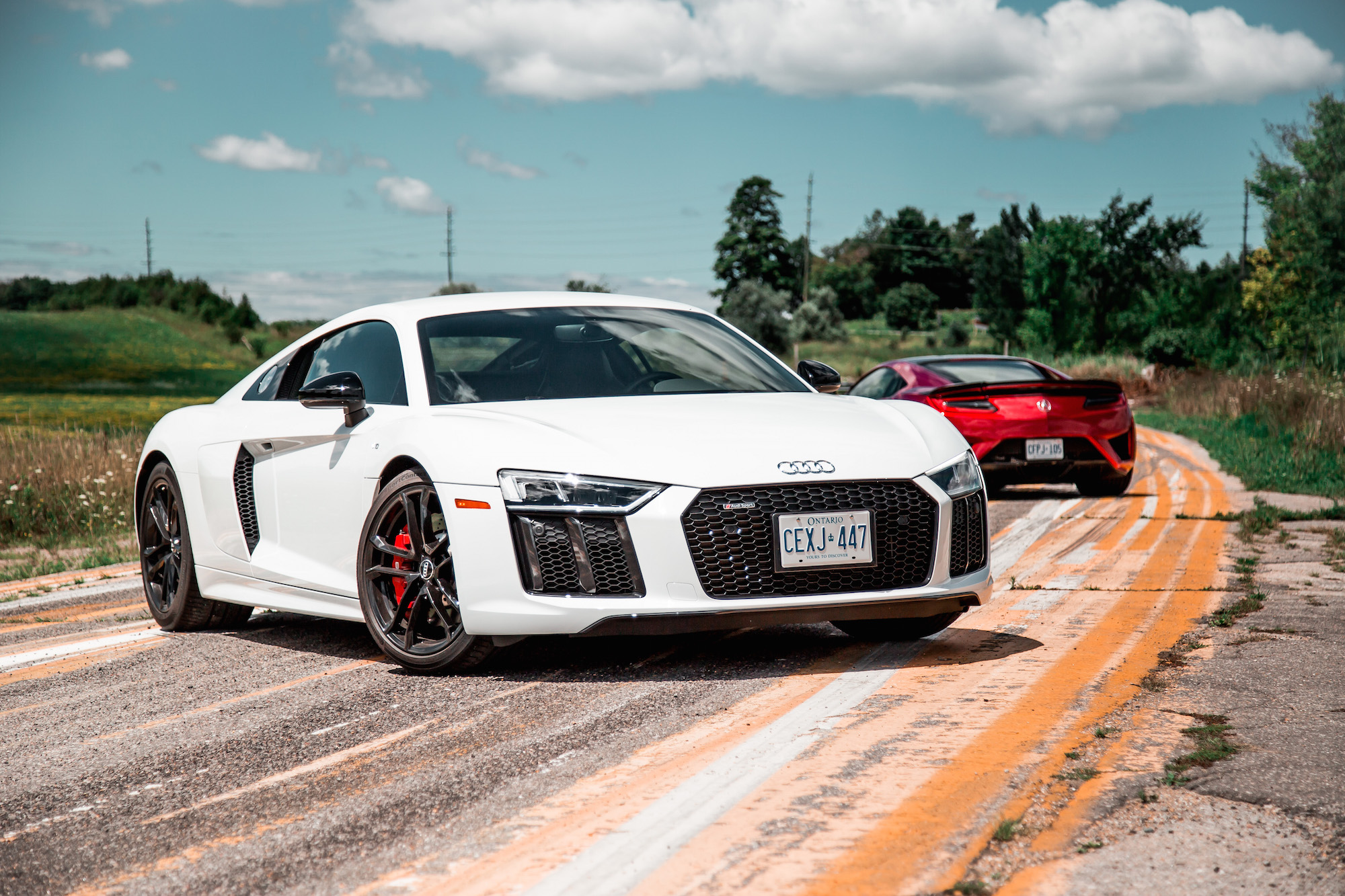 2018 acura nsx vs 2018 audi r8 rws comparison review car. Black Bedroom Furniture Sets. Home Design Ideas