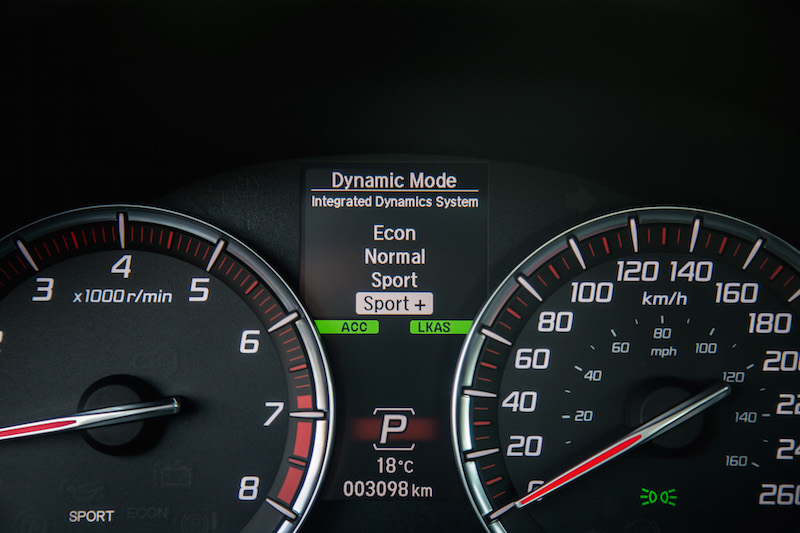 2018 Acura TLX A-Spec dynamic mode select