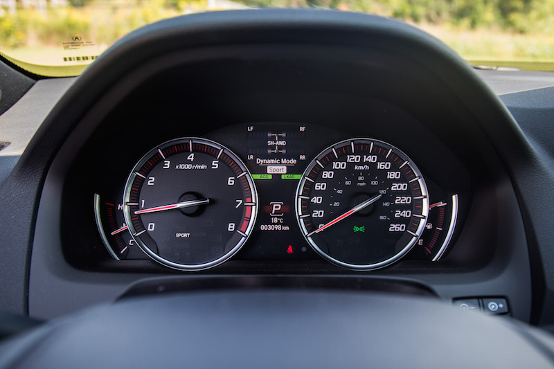 2018 Acura TLX A-Spec gauges