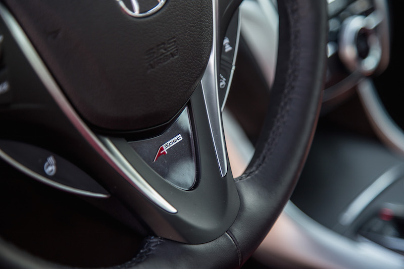 2018 Acura TLX A-Spec steering wheel badge