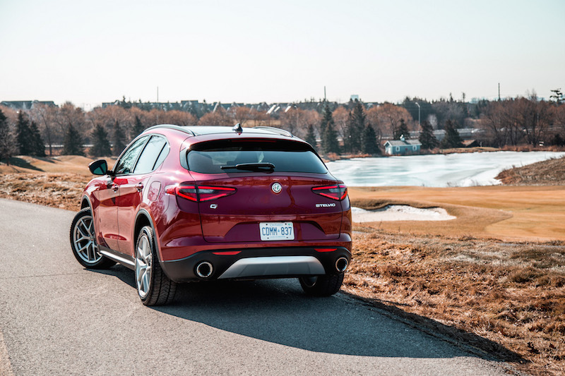 Alfa Romeo Stelvio rear quarter view