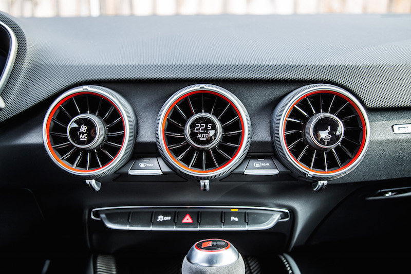 2018 Audi TT RS red accents on air vents
