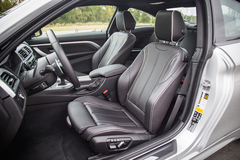 2018 BMW 440i xDrive 4 Series extended merino leather front seats