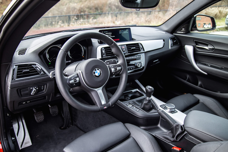 2018 BMW M240i steering wheel and dashboard