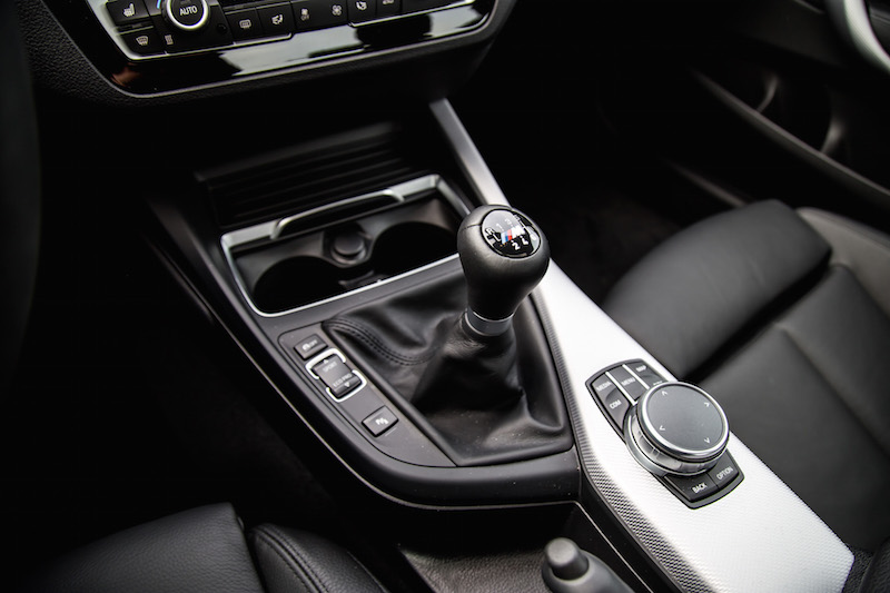 2018 BMW M240i manual gear shifter