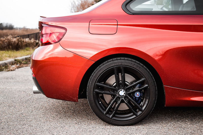 2018 BMW M240i rear fender wheels