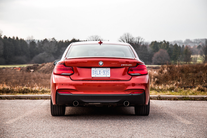 2018 BMW M240i rear view