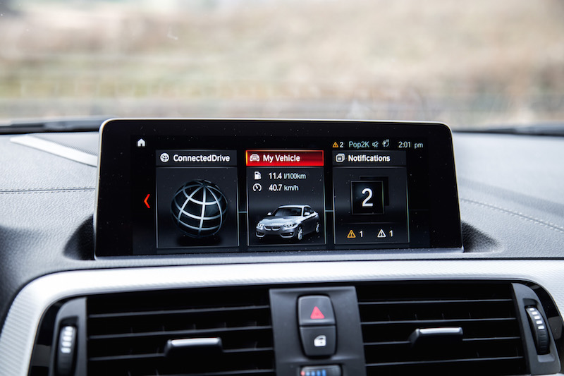 2018 BMW M240i infotainment screen display