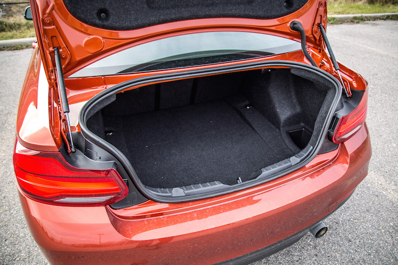 2018 BMW M240i trunk space cargo