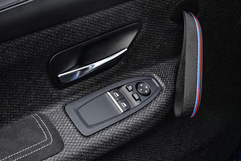 2018 BMW M4 CS natural fibre door panel