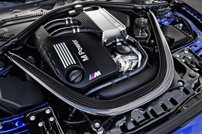 2018 BMW M4 CS engine bay