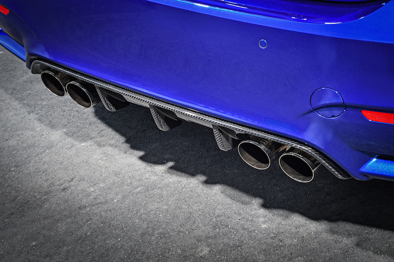 2018 BMW M4 CS gurney flap diffuser exhaust