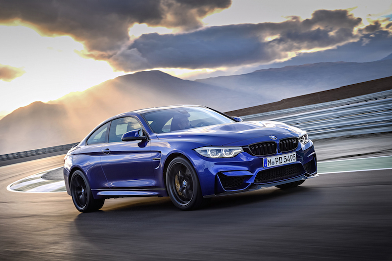 2018 BMW M4 CS san marino blue
