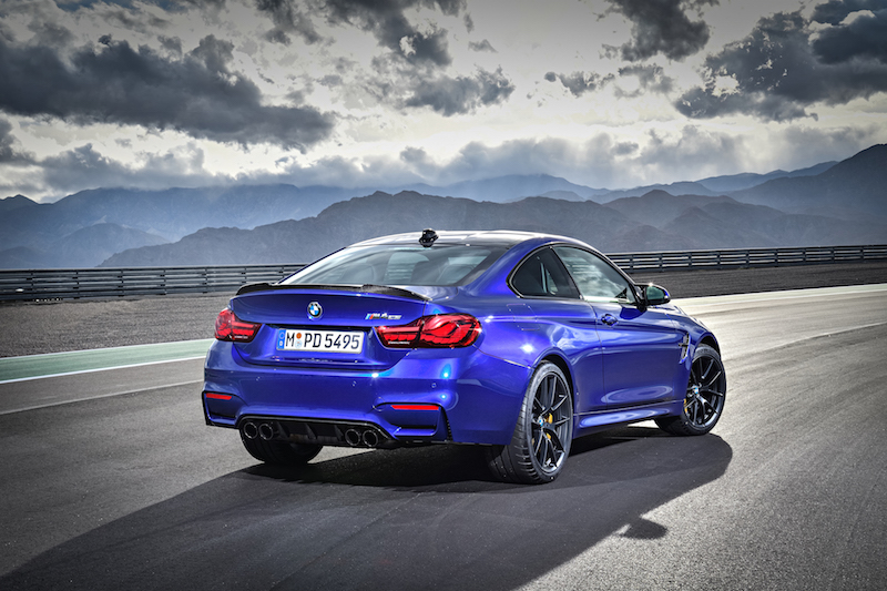 2018 BMW M4 CS rear quarter view