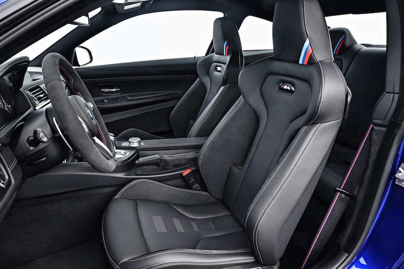 2018 BMW M4 CS front seats leather alcantara