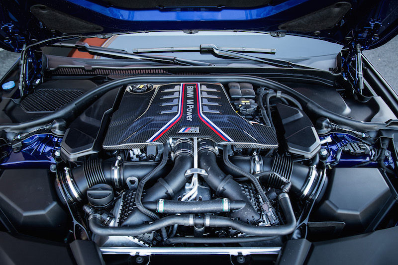 2018 BMW M5 v8 engine cover