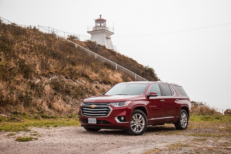 2018 Chevrolet Traverse along bay of fundy cape enrage