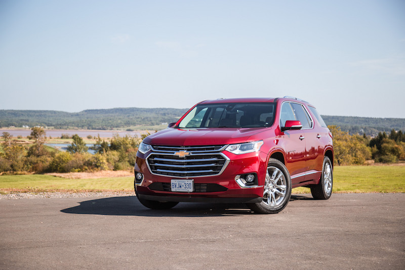 2018 Chevrolet Traverse ruby red paint
