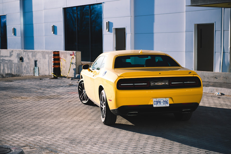 2018 Dodge Challenger GT rear quarter view