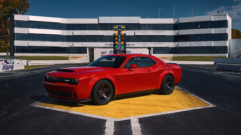 2018 Dodge Challenger SRT Demon at drag strip banned