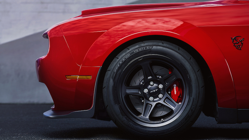 2018 Dodge Challenger SRT Demon nitto front tires wheels