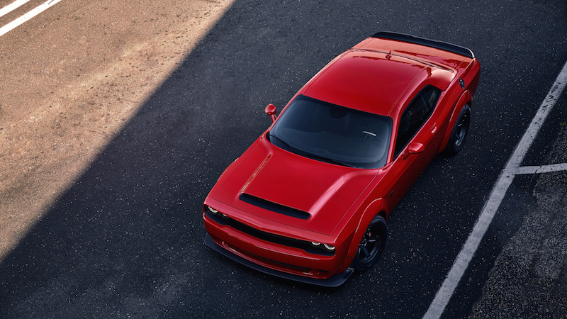 2018 Dodge Challenger SRT Demon roof